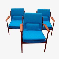 Modell 431 Armlehnstühle von Arne Vodder für Sibast Furniture, 1970, 3er Set