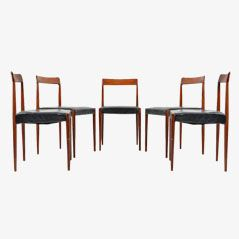 Rosewood Dining Chairs from Lübke, Set of 5