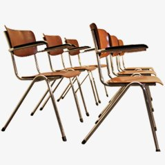 Garnitur von Sechs Schulstühlen