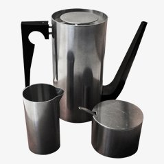 Cylinda Line Mokka Coffee Set by Arne Jacobsen for Stelton