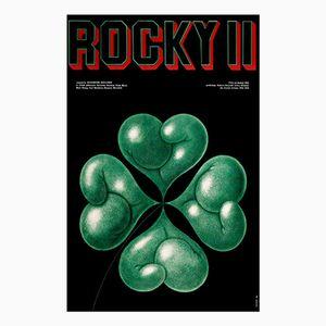 Polnisches Rocky II Filmplakat von Edward Lutczyn