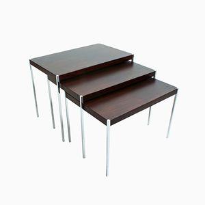 Tables d'Appoint en Palissandre par Uno & Östen Kristiansson pour Luxus Vittsjö, 1960s, Set de 3