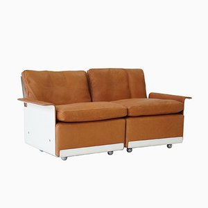 RZ 62 620 Modular Two-Seater Sofa in Leather by Dieter Rams for Vitsoe, 1960s