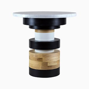 "Sass Side Table Low wtih 16"" Marble Top by MPGMB for Souda"