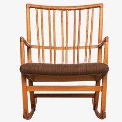 Rocking Chair ML-33 par Hans Wegner pour Mikael Laursen, 1942