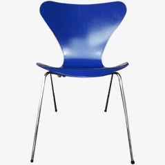 Blauer Butterfly Chair 3107 von Arne Jacobsen, 1955s