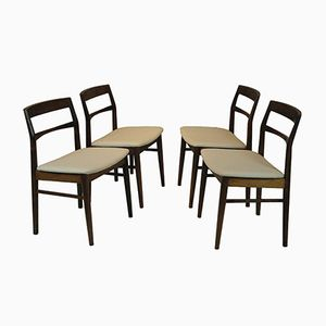 Danish Rosewood Dining Chairs by Henning Kjaernulf, 1960s, Set of 4