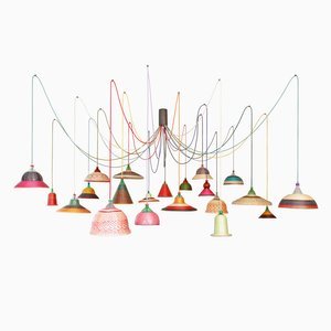 PET Lamp Chandelier par Alvaro Catalán de Ocón