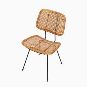 Mid-Century Rattan Chair by Dirk Van Sliedregt for Rohé Noordwolde, 1950s