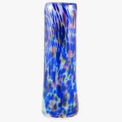Glass Vase by C. Cobb, 1980s