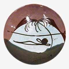 Vintage Ceramic Bowl by Buxo, 1950s
