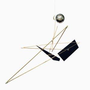 Scultura Satellite con luce di SuperDuperStudio