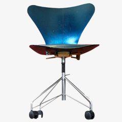 Vintage 3107 Swivel Chair by Arne Jacobsen for Fritz Hansen