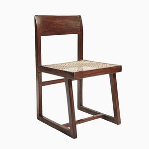 Teak and Wicker Dining Chair by Pierre Jeanneret