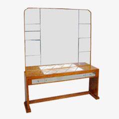 Wandtisch mit Spiegel aus Mahagoni, 1935