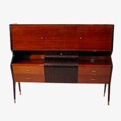Rosewood Cabinet and Bar by Osvaldo Borsani for Arredamenti Borsani Varedo, 1940s
