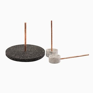 Tribu Volcanic Rock Tray and Spice Containers by Caterina Moretti and Alejandra Carmona for PECA