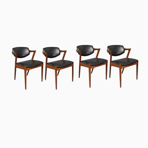 Vintage Model 42 Dining Chairs by Kai Kristiansen for Schou
