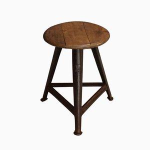 Vintage German Wood and Metal Stool from Rowac