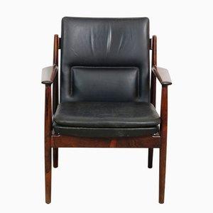 Chaise de Bureau Modèle 431 en Palissandre et Cuir par Arne Vodder pour Sibast, 1960s