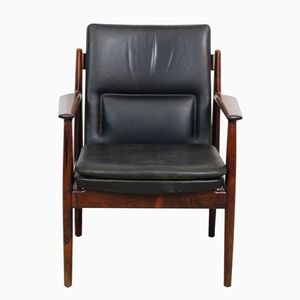 Model 431 Rosewood and Leather Desk Chair by Arne Vodder for Sibast, 1960s