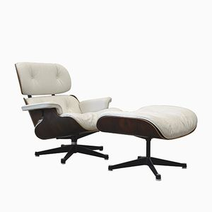 Vintage Rosewood Lounge Chair & Ottoman by Charles & Ray Eames for Herman Miller, 1970s