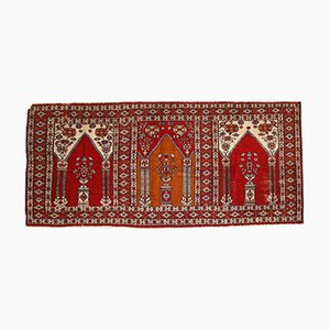 Vintage Turkish Handmade Prayer Rug, 1960s
