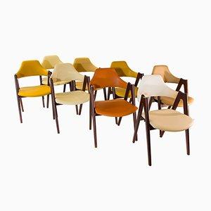 Mid-Century Kompass Stühle von Kai Kristiansen, 8er Set