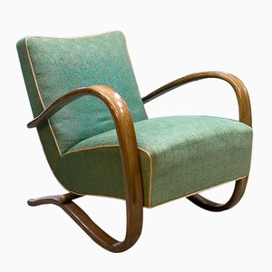 Art Deco H-269 Bentwood Armchair by Jindřich Halabala for UP Závody Brno, 1930s