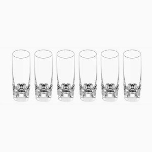 Pitagora Highball Glasses by Marco Zanuso for Arnolfo Di Cambio, 1969, Set of 6