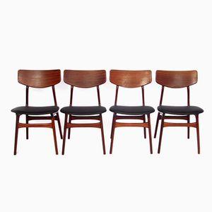 Niederländische Mid-Century Esszimmerstühle von Louis van Teeffelen für WéBé, 1950er