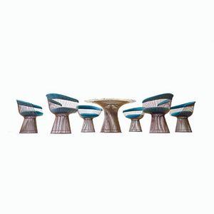 Table de Salle à Manger & Chaises d'Appoint par Warren Platner pour Knoll International, 1968
