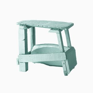 Chinese Stools – Made in China, Copied by the Dutch 2007, Green 4-Legged Stool from Sudio Wieki Somers