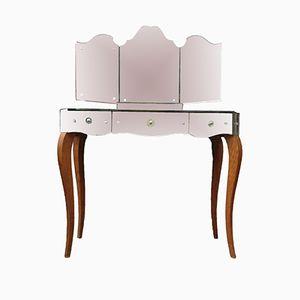 Mid-Century Mirrored Vanity Table