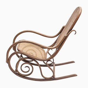 Antique Cane Rocking Chair by Michael Thonet for Thonet