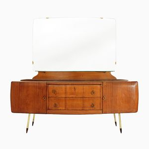 Italian Chest of Drawers with Brass Feet from Fratelli Giussani, 1950s