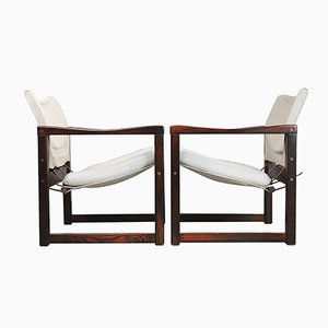 Scandinavian Diana Safari Canvas Chairs by Karin Mobring for Ikea, 1972, Set of 2
