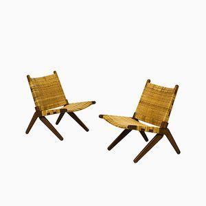 Easy Chairs by Arne Hovmand-Olsen for Mogens Kold, 1950s, Set of 2