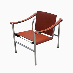 Italian Modernist Basculant LC1 Chair by Le Corbusier, Pierre Jeanneret, and Charlotte Perriand for Cassina, 1980s
