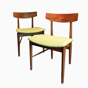 Skandinavische Stühle von Arne Vodder für Sibast, 2er Set