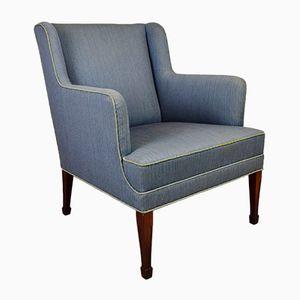 Danish Mahogany Lounge Armchair from Frits Henningsen, 1950s