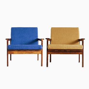 Model No. 4 Lounge Chairs by Illum Wikkelsø for Niels Eilersen, Set of 2