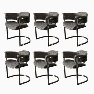 Italienische Esszimmerstühle, 1970er, 6er Set