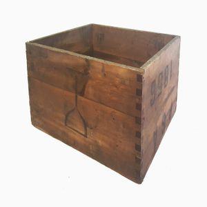 Vintage Wooden Stamped Box