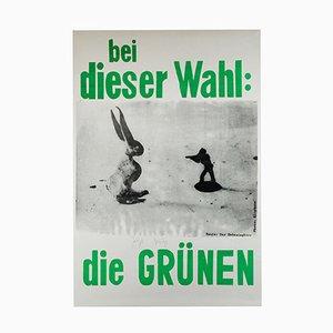 Poster Die Grünen Campaign di Joseph Beuys, 1979