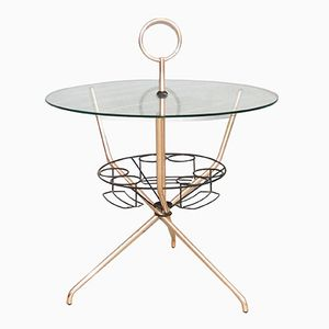 Italian Brass & Glass Bar Table
