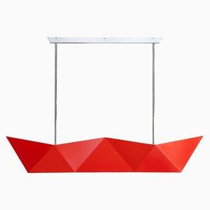 Deriva Fluorescent Orange Hanging Lamp by Alessandro Mendini