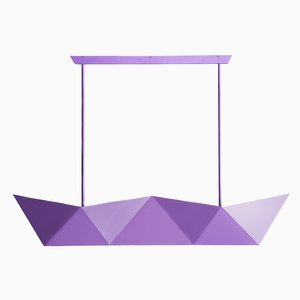 Deriva Pearl Violet Hanging Lamp by Alessandro Mendini