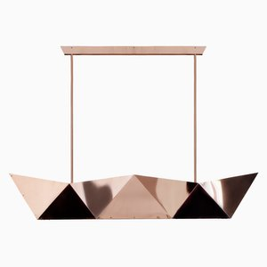Deriva Copper Hanging Lamp by Alessandro Mendini