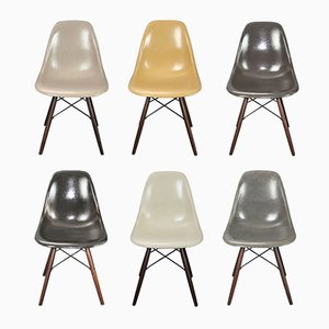 Chairs by Charles and Ray Eames for Herman Miller, Set of 6